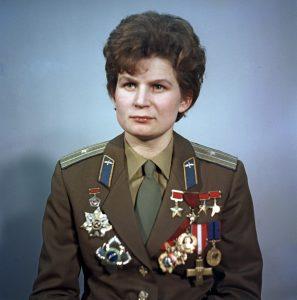 Retrato da cosmonauta Valentina Tereshkova